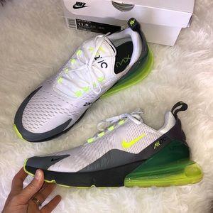 Nike Air Max 270 Platinum Grey Volt Running Shoes